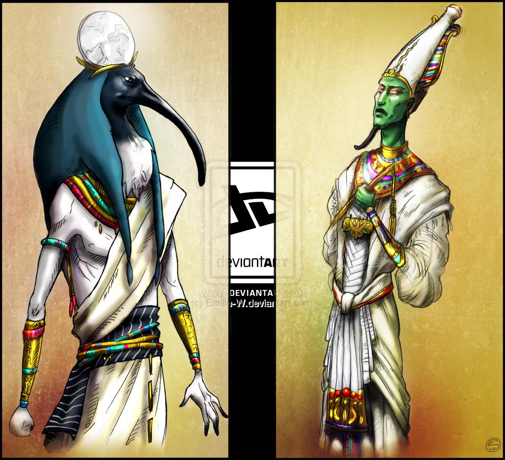 Thot and Osiris by Emilie-W.deviantart.com on @deviantART ...