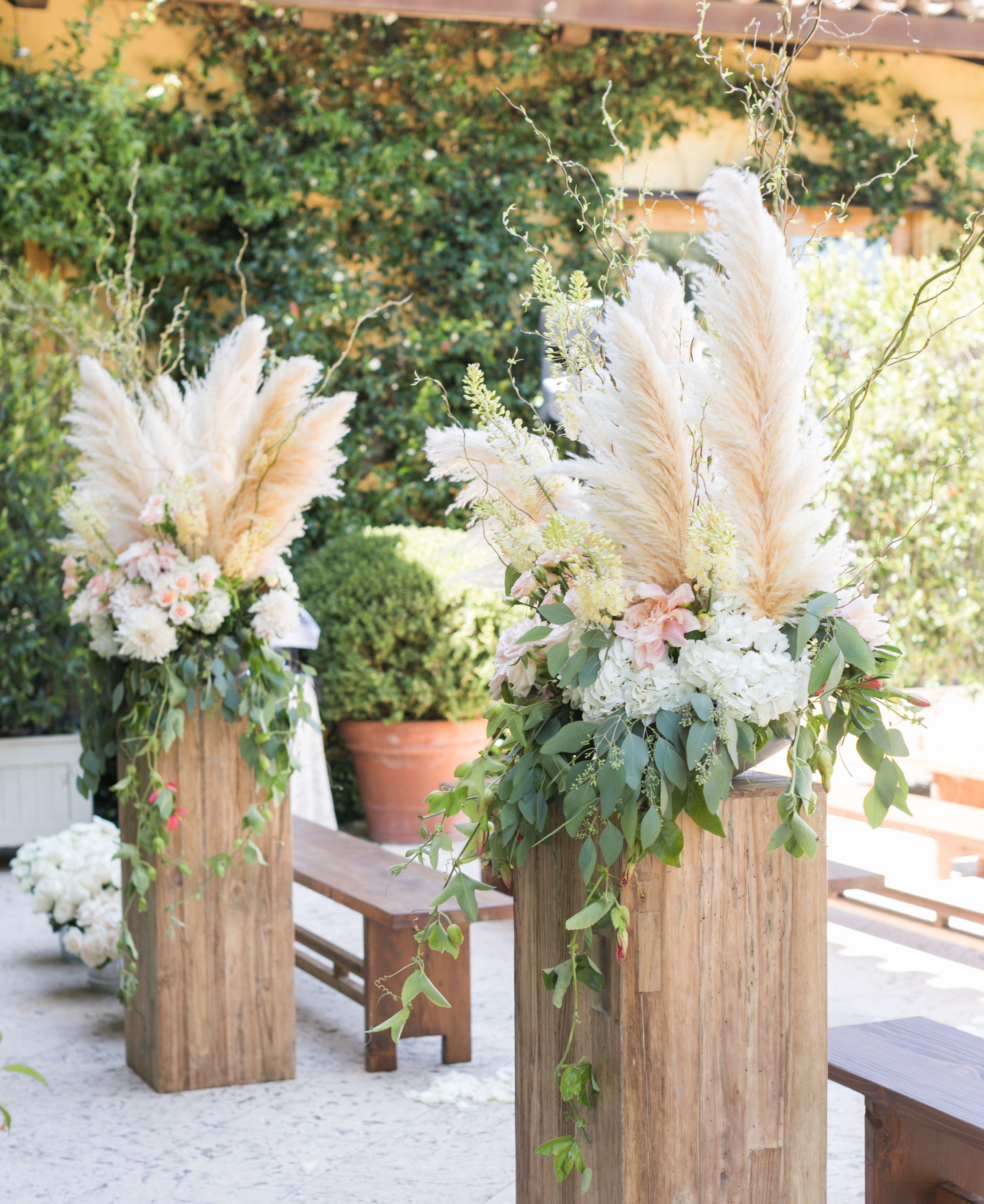 Altarpiece Wedding: Pampas Grass Wedding Aisle End Caps