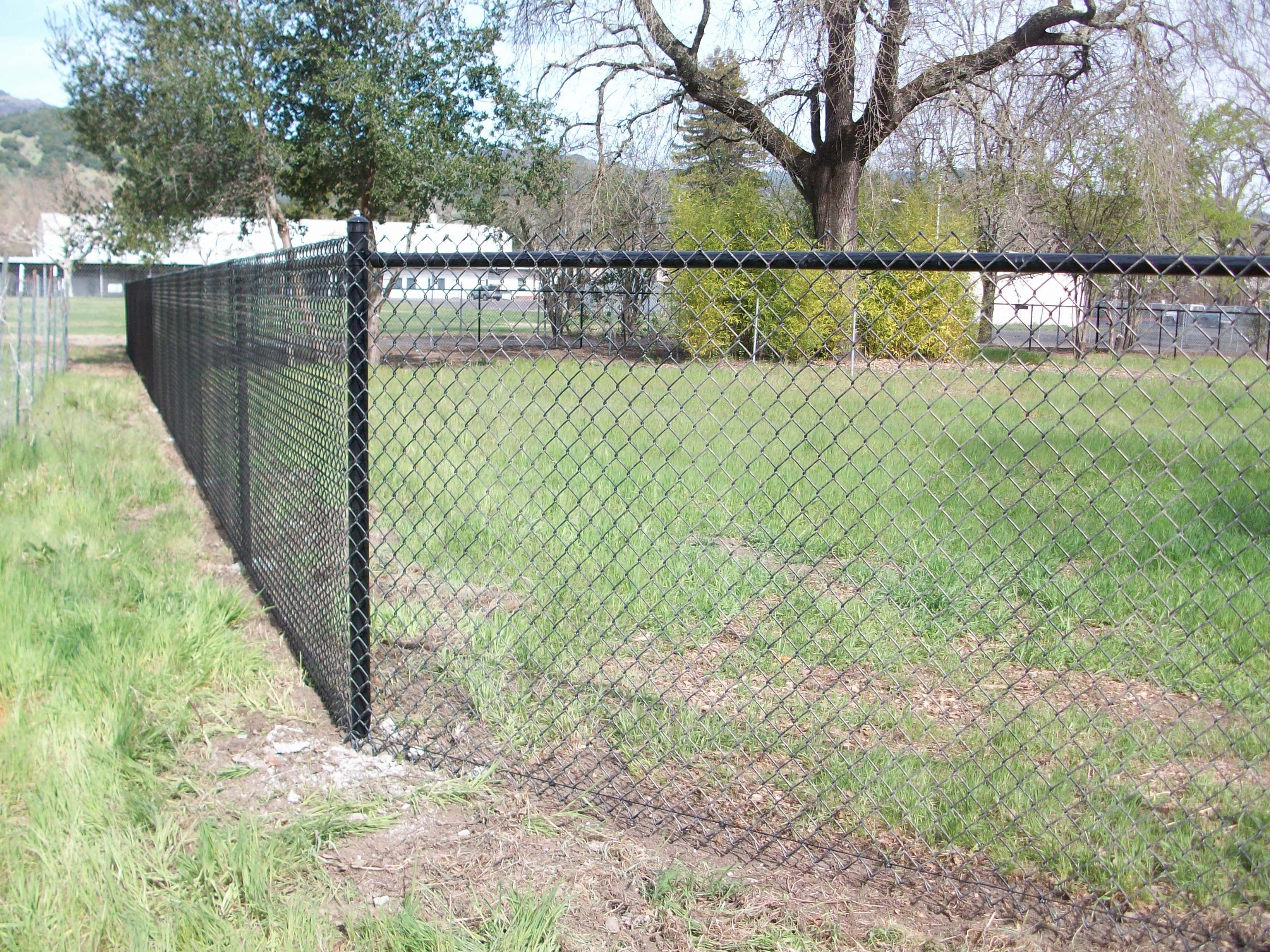 Black Chainlink Fence Pinterest