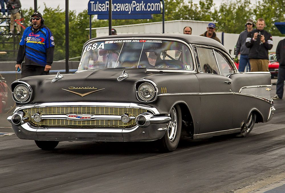 The Evil Twin 1957 Chevy Lutz used to win Drag Week 2014 Photo ...