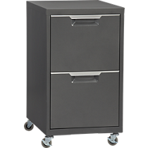 $199 CB2 TPS carbon 2-drawer filing cabinet