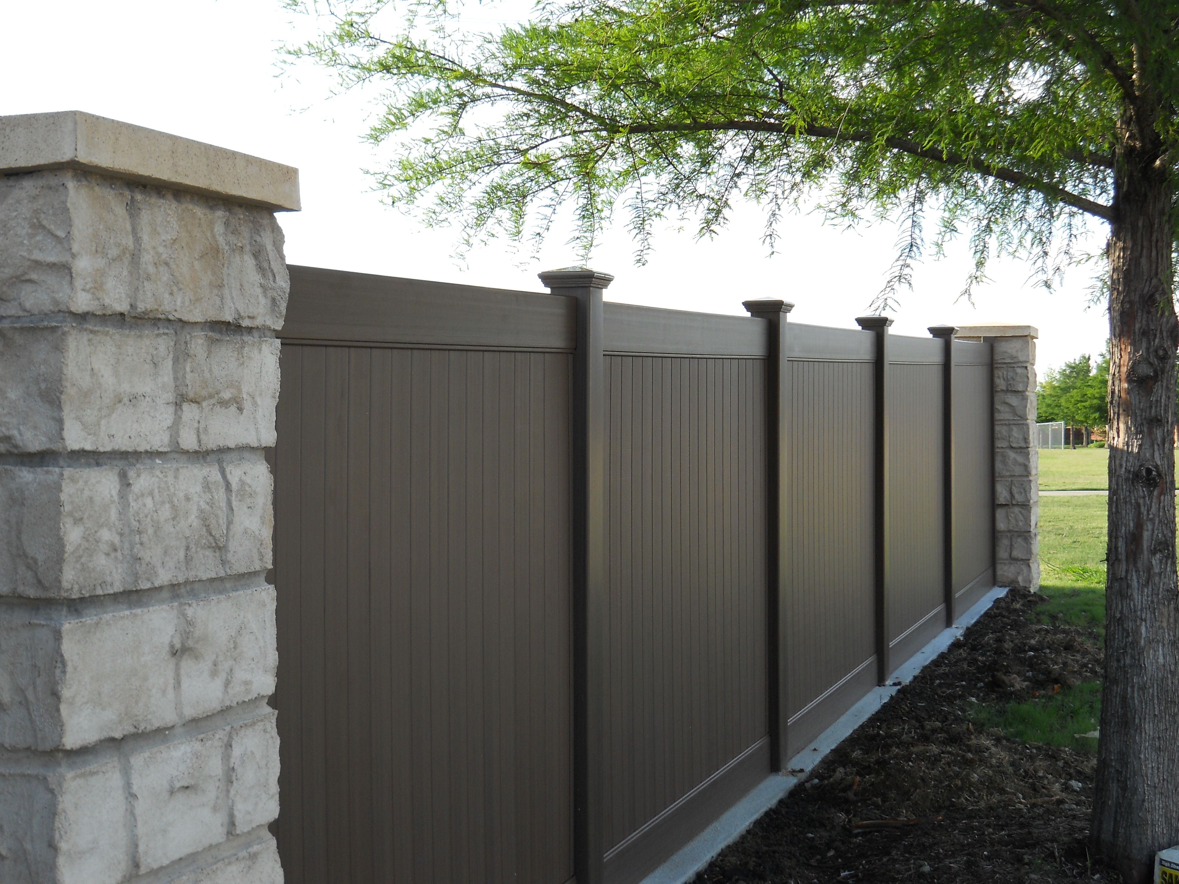 Chestnut Brown Vinyl Privacy Fencing Future Outdoors