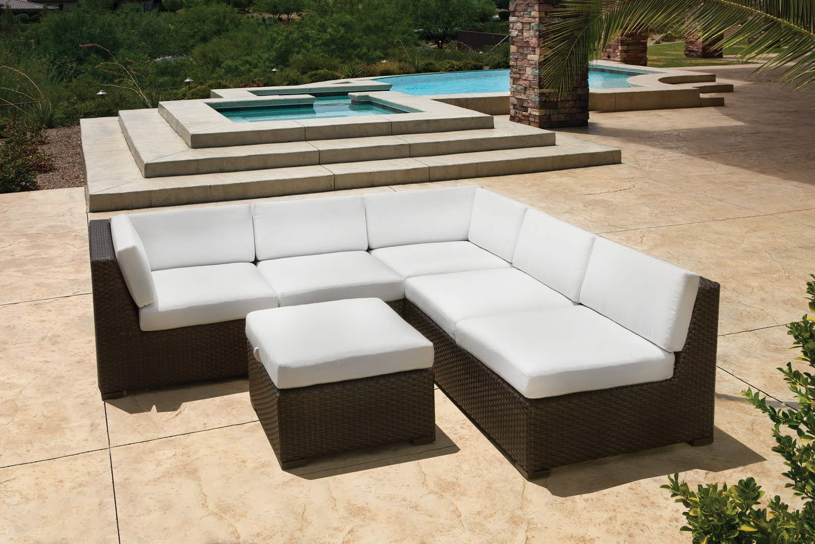 Modern Woven Outdoor Sectional Discount Patio Furniture Outdoor Pool Furniture Pool Furniture Modern outdoor pool furniture