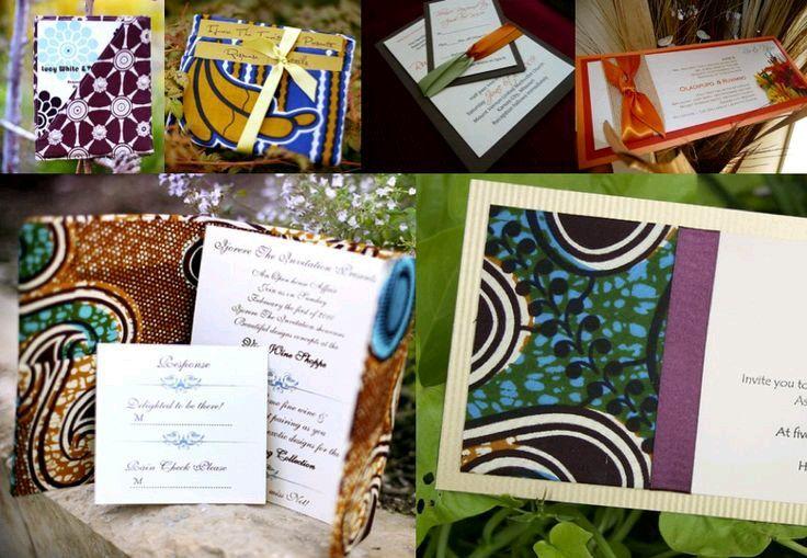 Elegant Invitations Invitation Ideas Wedding Jamaica African Weddings Fabric Traditional Style