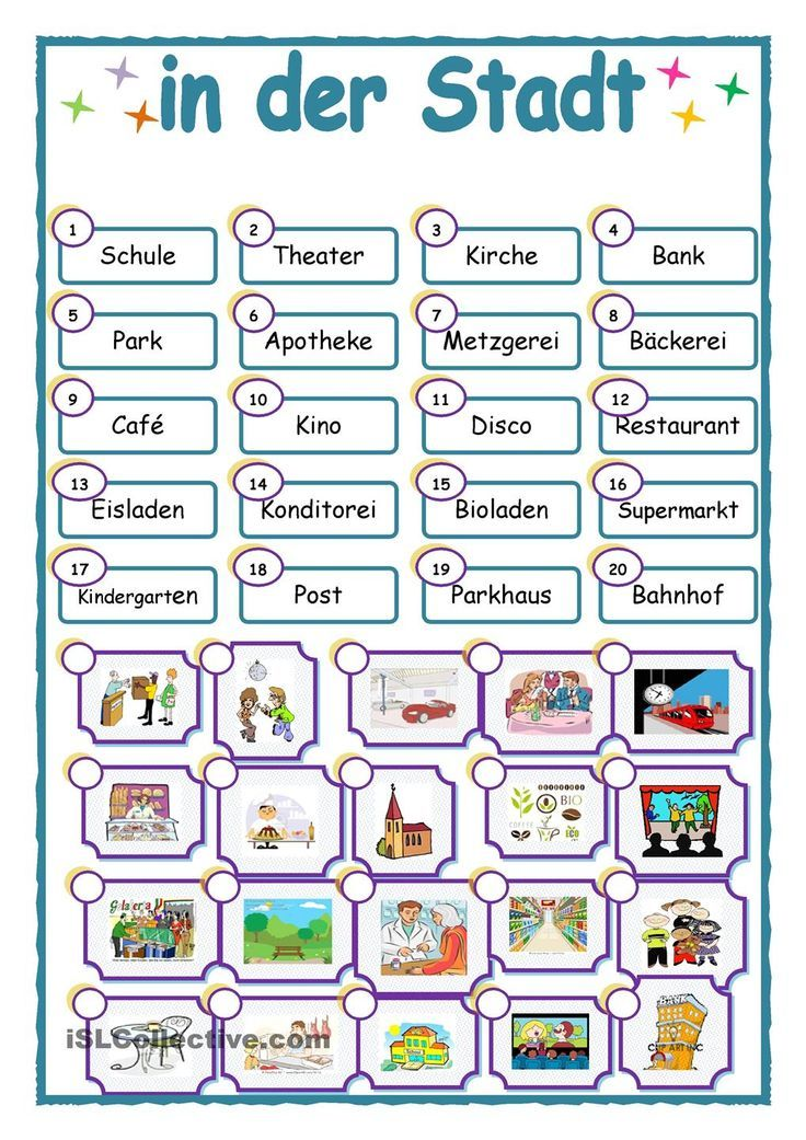in der Stadt | Learning German | Pinterest | Learn german and Worksheets