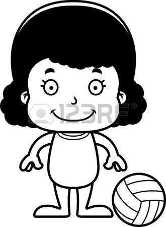 volleyball girl: Un jugador de voleibol playa chica de dibujos ...