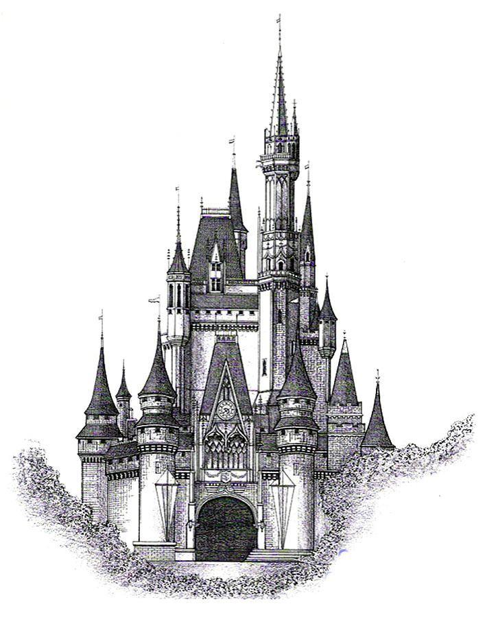 Walt Disney World Cinderella Castle Drawing