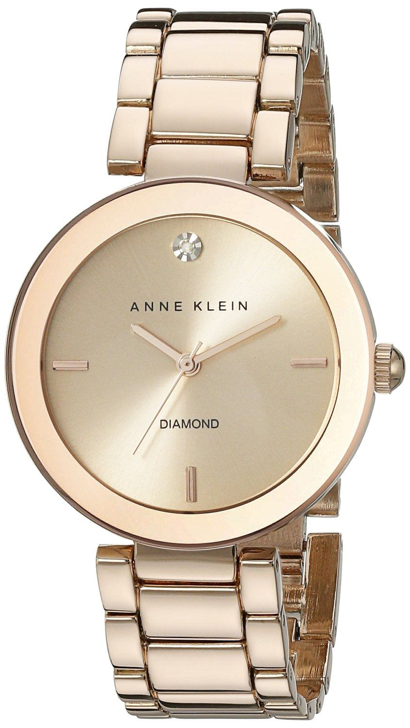 a5c129bafff Anne Klein Women s AK 1362RGRG Rose Gold-Tone Diamond-Accented Bracelet  Watch     Be sure to check out this awesome product.