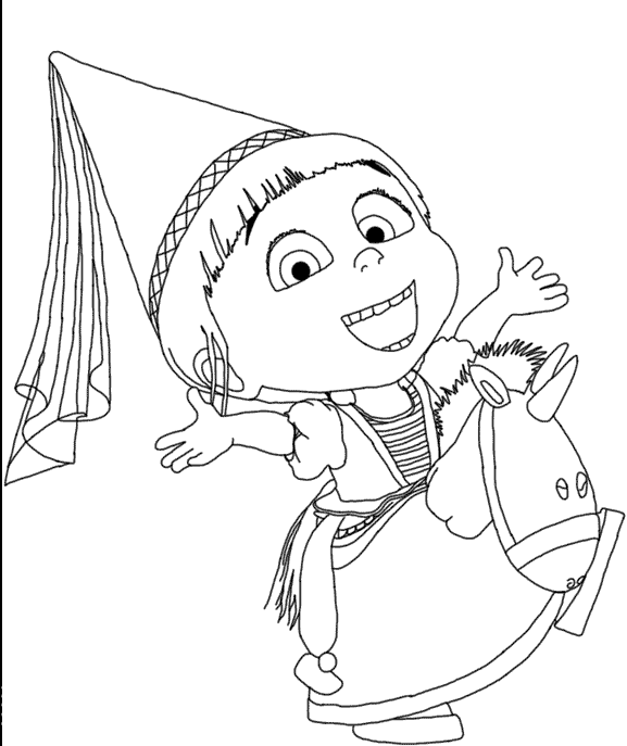 Agnes Despicable Me 2 Coloring For Kids
