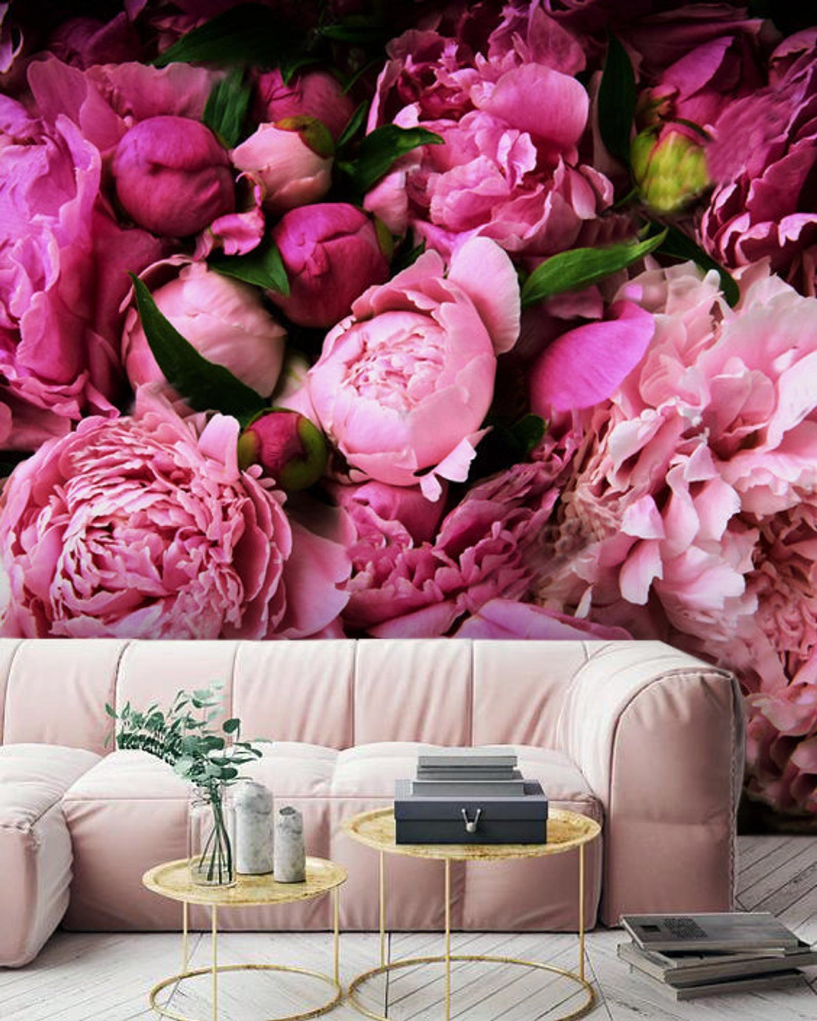 Wallpaper Pink Peony Beautiful Flowers Large Photo Wall ...
