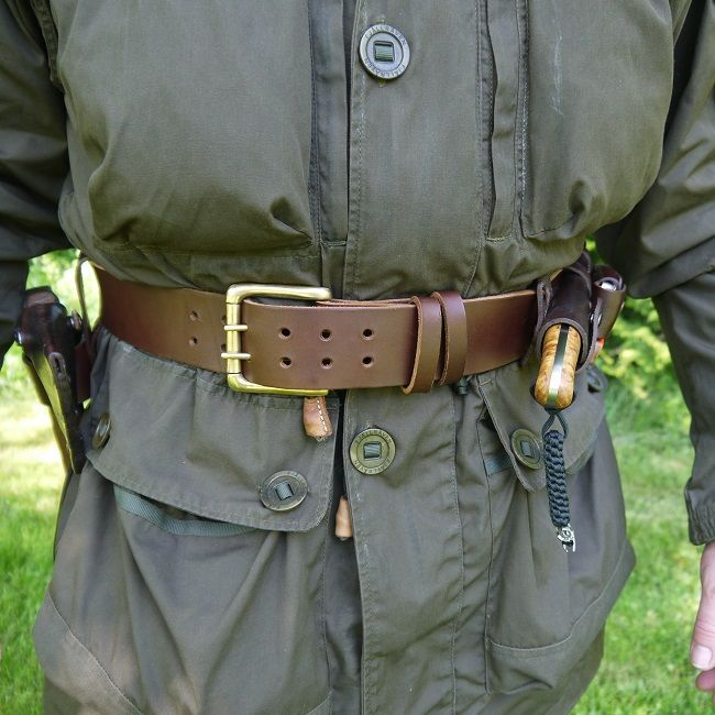 six magpies leather equipment belt magpie and survival