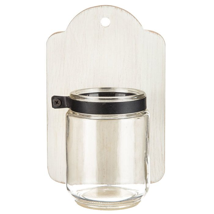 White Wood Jar Wall Sconce | Galvanized metal wall, Wall ... on Sconces Wall Decor Hobby Lobby id=73462