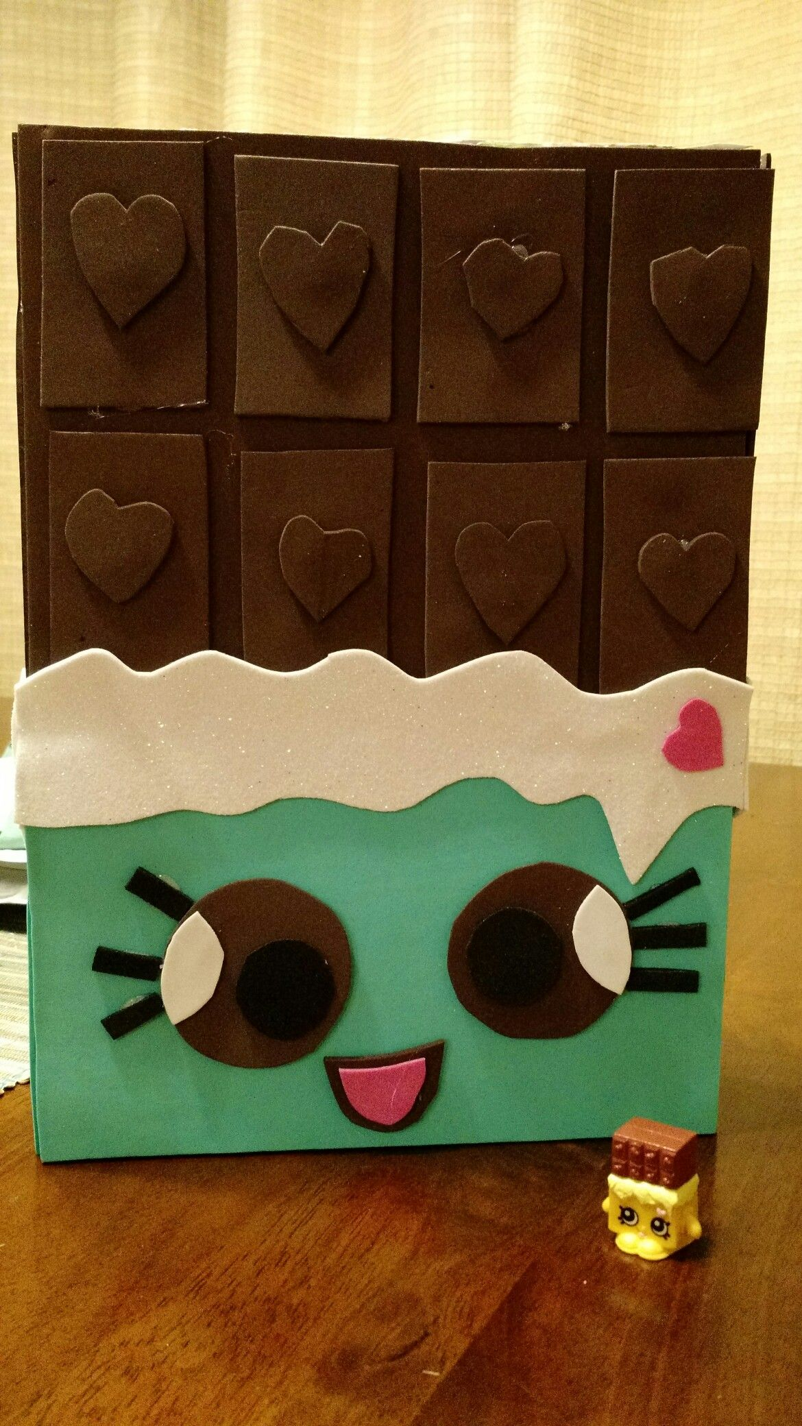 Cheeky Chocolate Shopkins Valentine Box Made From A Cereal Box And