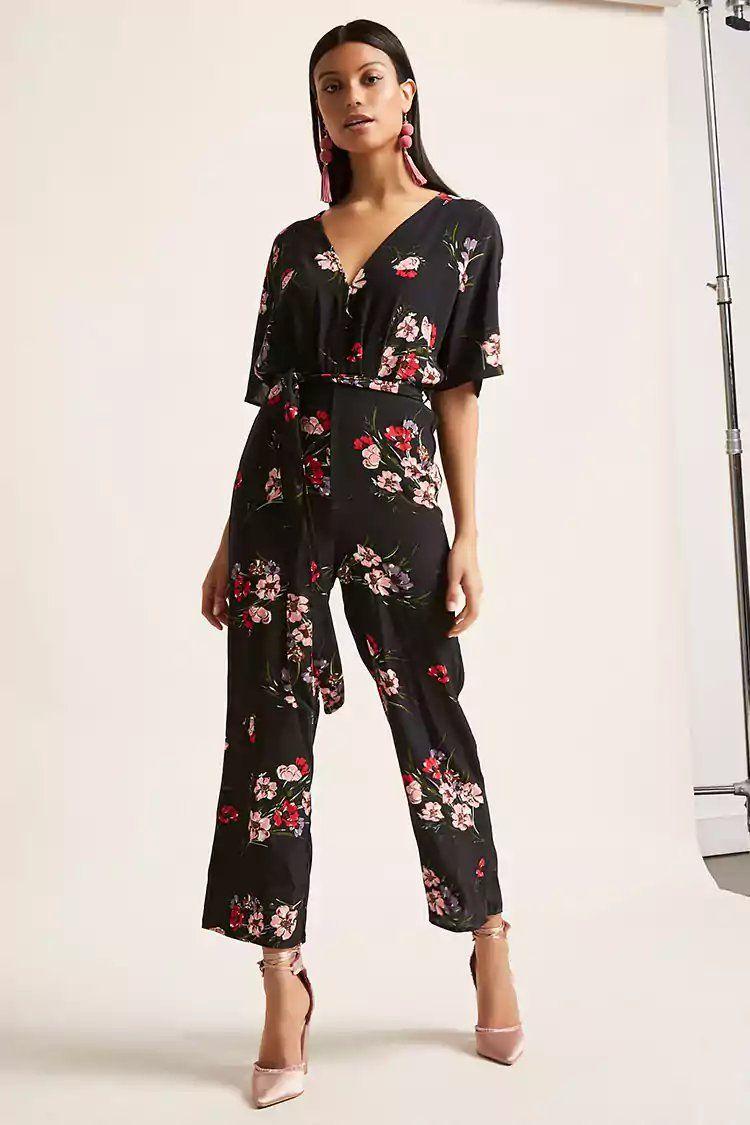 59c6caf2b0 Floral Print Culotte Jumpsuit