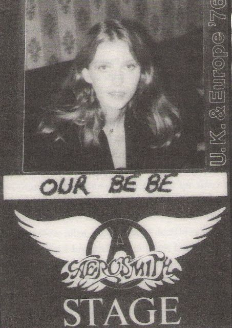 Bebe Buell's backstage pass....lucky!
