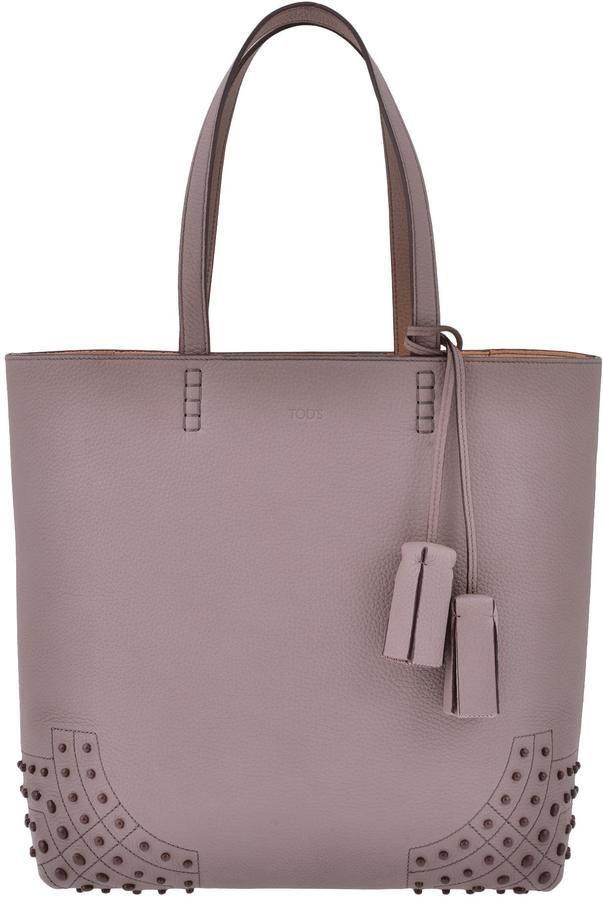 13d454435e5 Tod s Leather Shopping Bag   MyTod s   Pinterest   Shopping bags ...