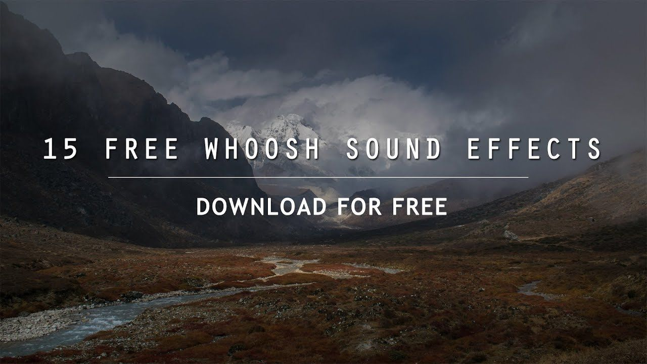 15 FREE Whoosh Sound Effects for your video transitions.