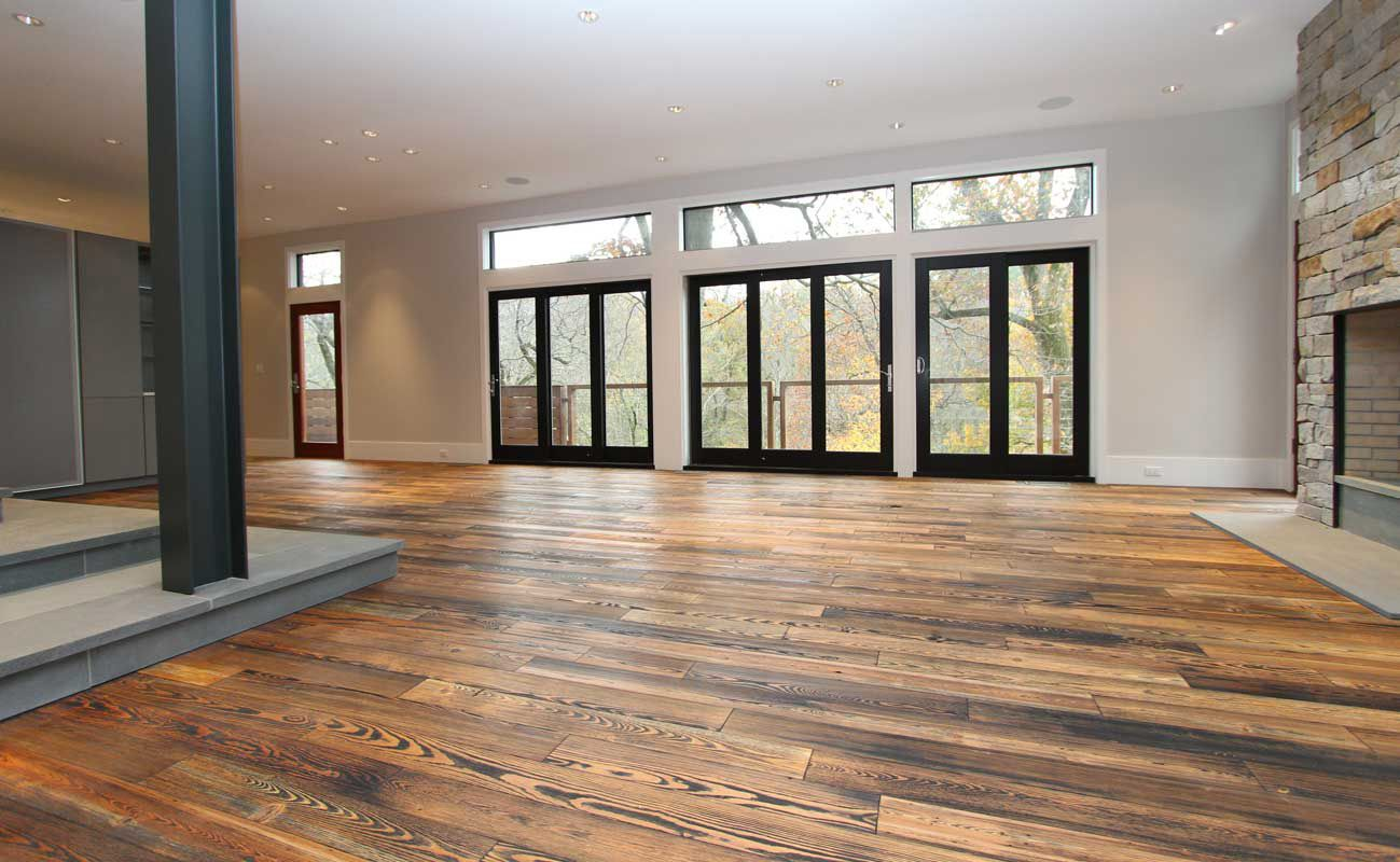 BENGAL: Engineered Prefinished Reclaimed Heart Pine Wood Flooring From  ReSAWNu0027s RUSTIC MODERN Collection. Design