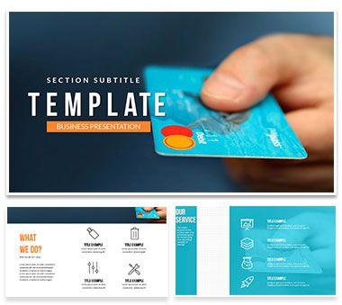 Visa Debit Card Powerpoint Template Visa Debit Card Powerpoint Templates Templates