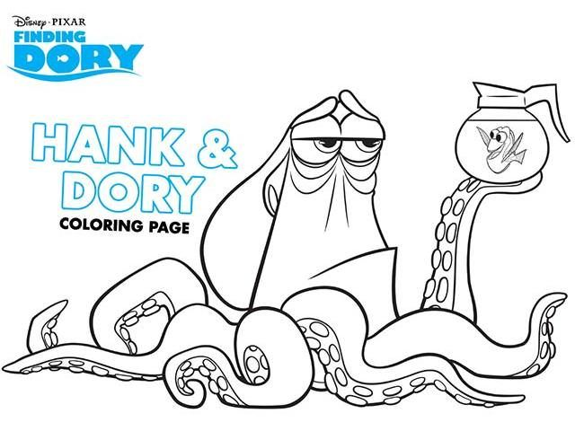Get Free Disneyu0027s Finding Dory Coloring Pages! -   - new pixar coloring pages finding nemo