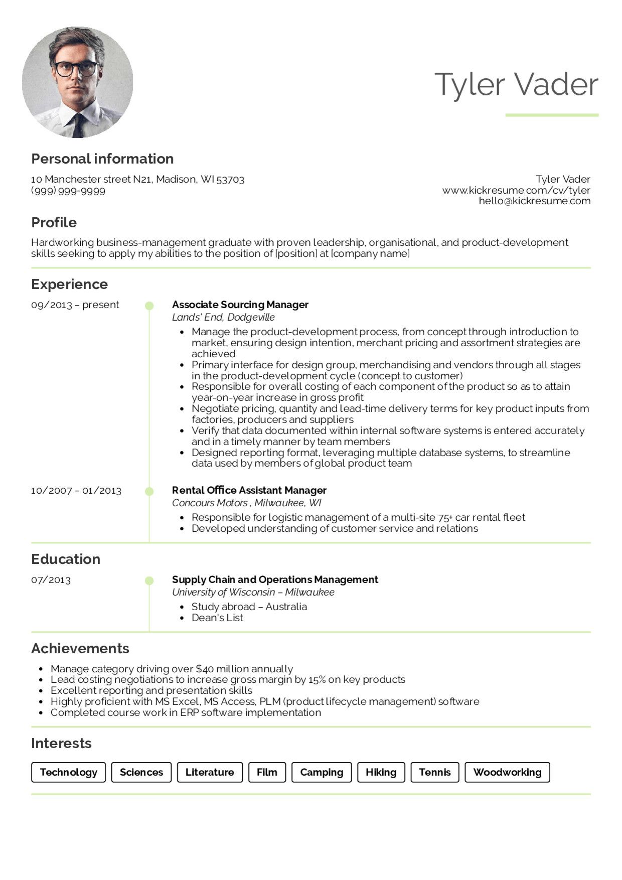 Resume Sample for Fresh Graduate Innovative Resume