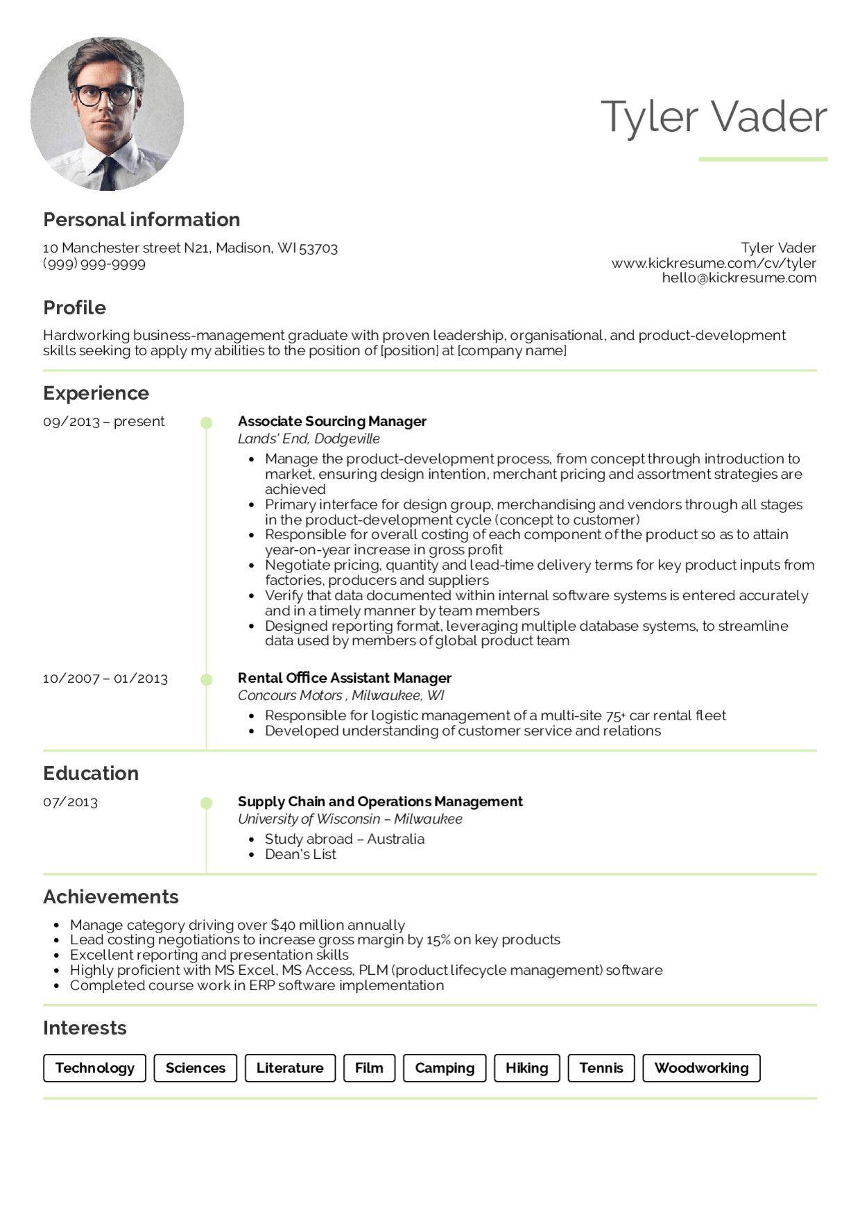 Resume Objective For Fresh Graduate Marketing