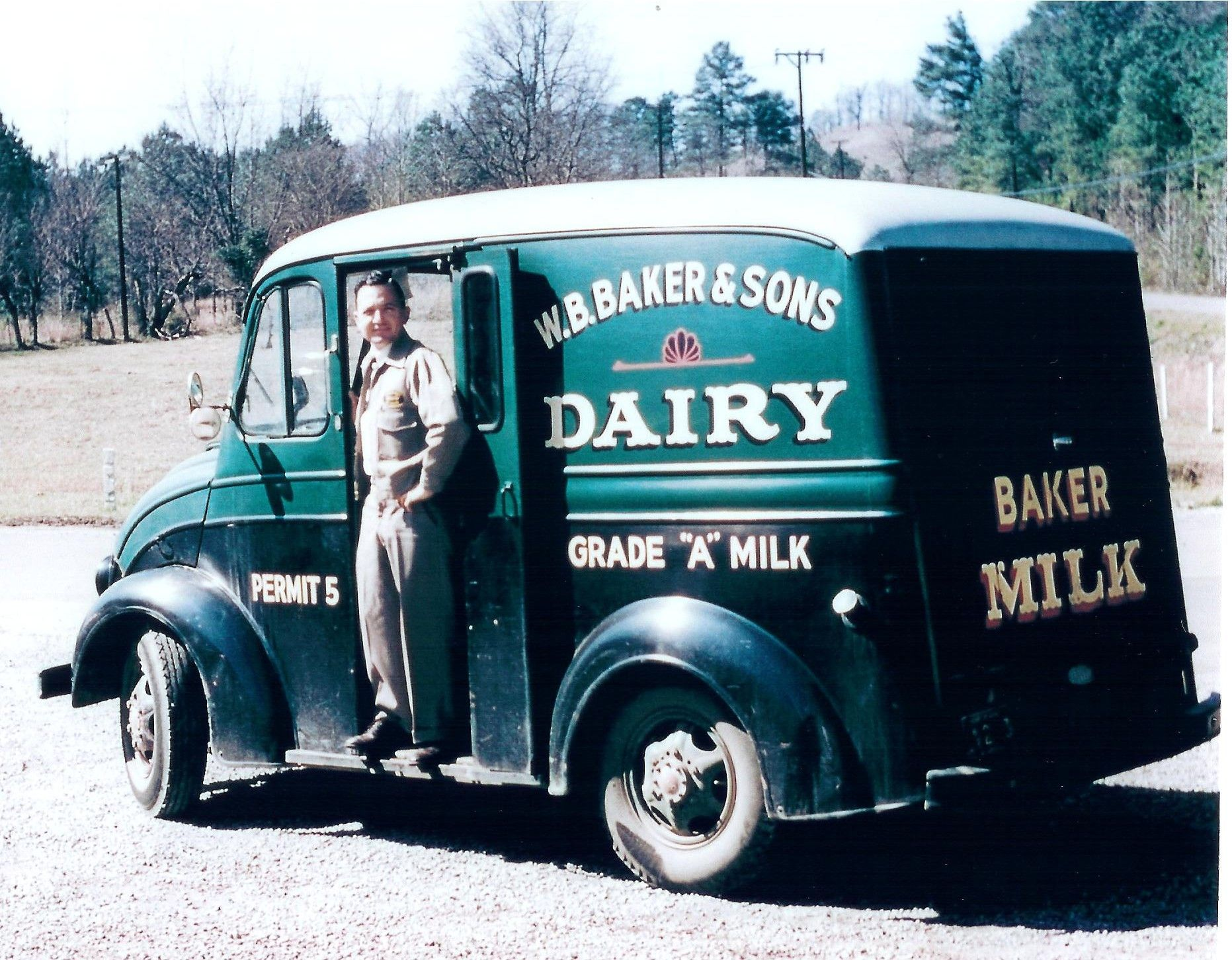 Previous pinner states: My dad in his milk truck in the 1950\'s ...