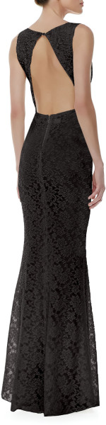 Alice Olivia Sachi Fitted Lace Gown Black Alice Olivia In
