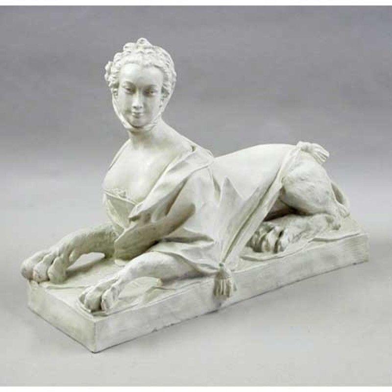 Victorian Woman Sphinx 30in. - Fiberglass Resin - Outdoor Statue
