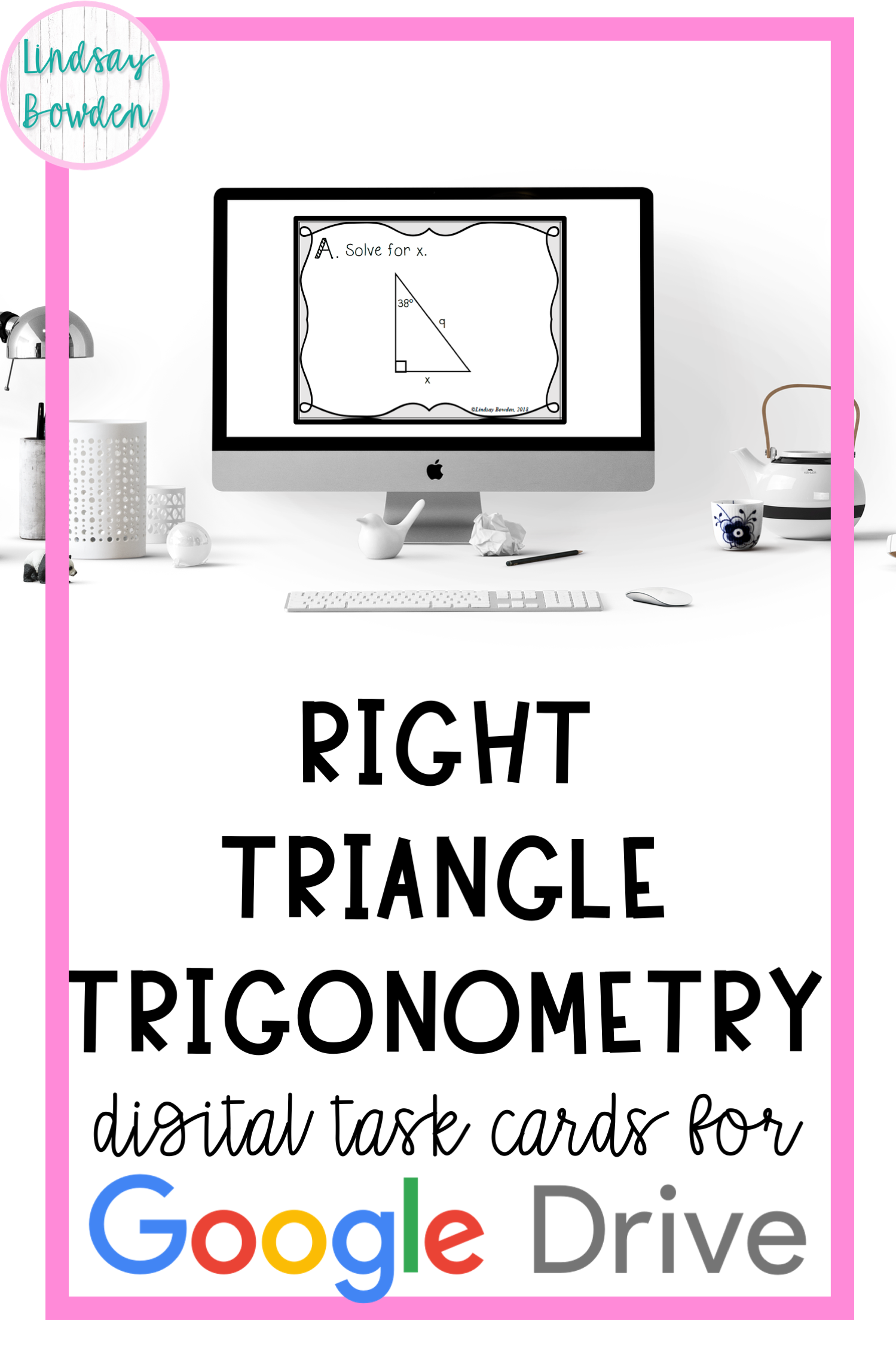 Right Triangle Trigonometry Digital Task Cards in 2020