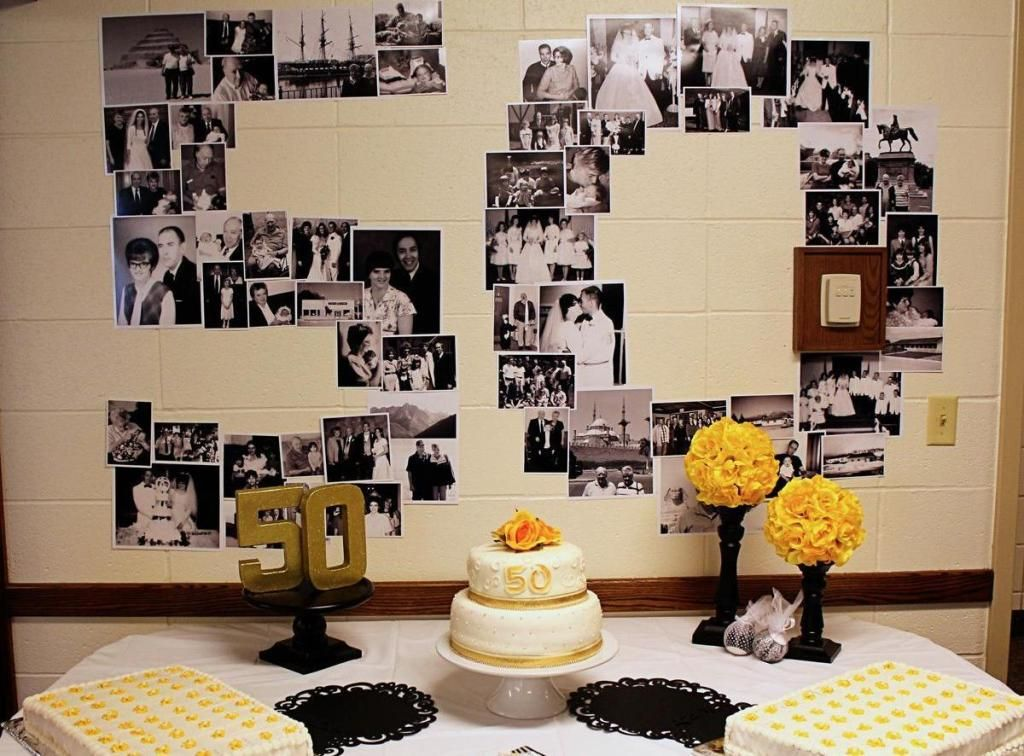 50th anniversary party ideas on a budget gallery of 50th for Anniversary decoration ideas home