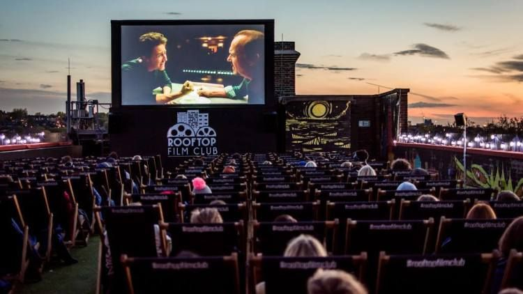 Exclusive Rooftop Film Club Announces First Outdoor La Screenings Rooftop Cinema Outdoor Movie Nights Outdoor Movie