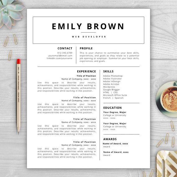 Professional résumé template editable in MS Word including résumé - microsoft office 2010 resume templates