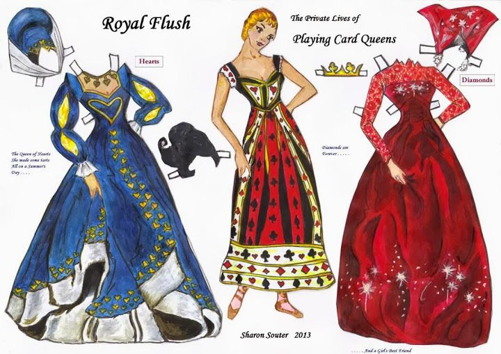 Royal Flush - The Private Lives of Playing Card Queens – Sharon Souter – Webová alba Picasa