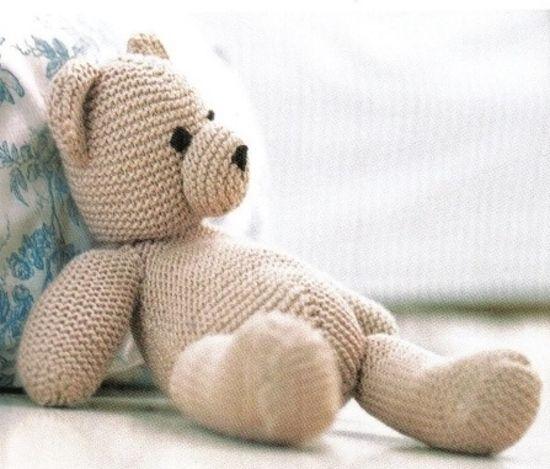 Ourson au tricot - tuto téléchargeable   doudou   Pinterest ... 5b60b27718a