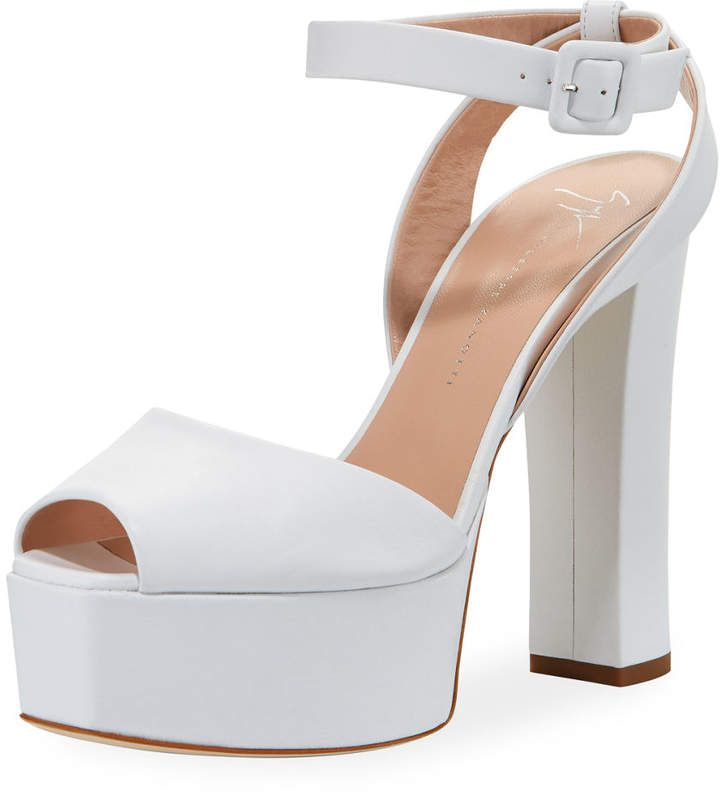 b4243d28c96e6 Giuseppe Zanotti Denim Platform Ankle-Strap Sandals Metallic Heels, Patent  Leather Pumps, Ankle