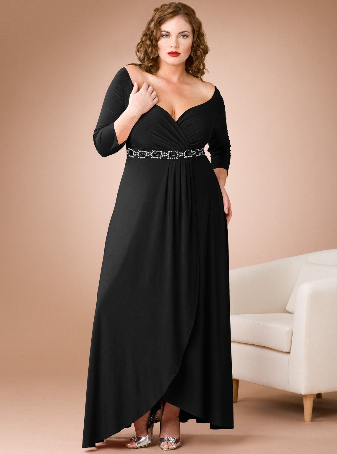 20 plus size evening dresses to look like queen | sleeved dress
