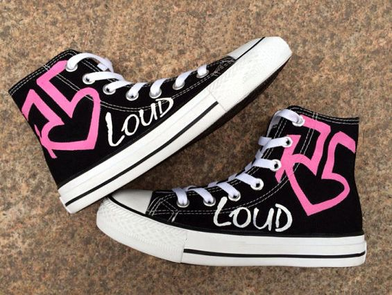 R5 Custom Converse Sneakers Hand Painted 100 Hand Painted 100