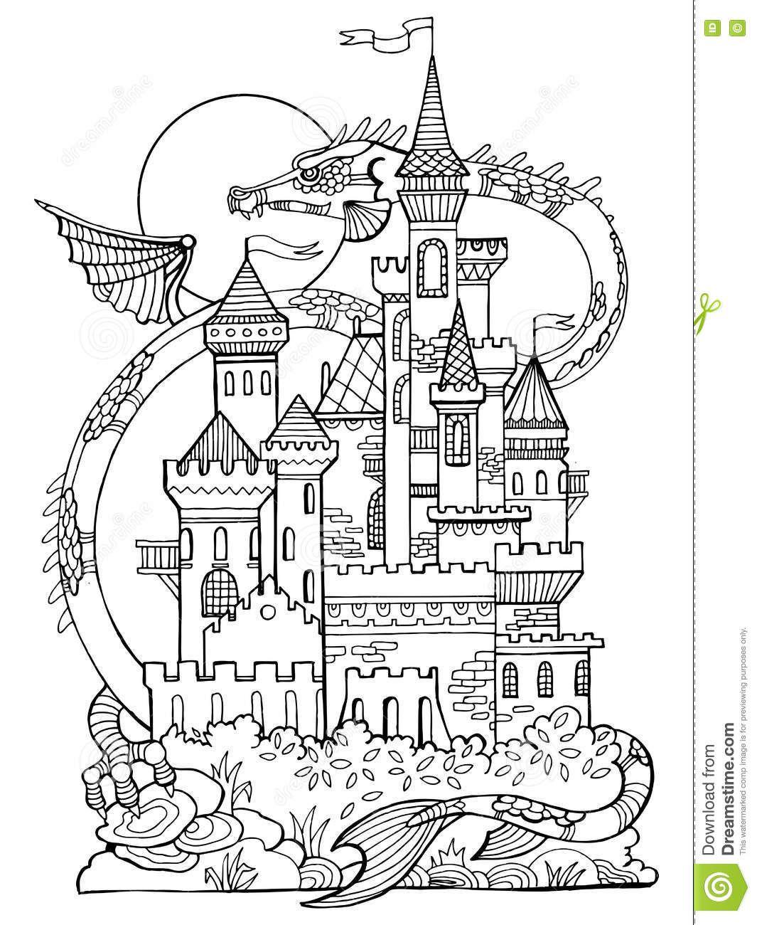 Coloriage à Imprimer Chateau
