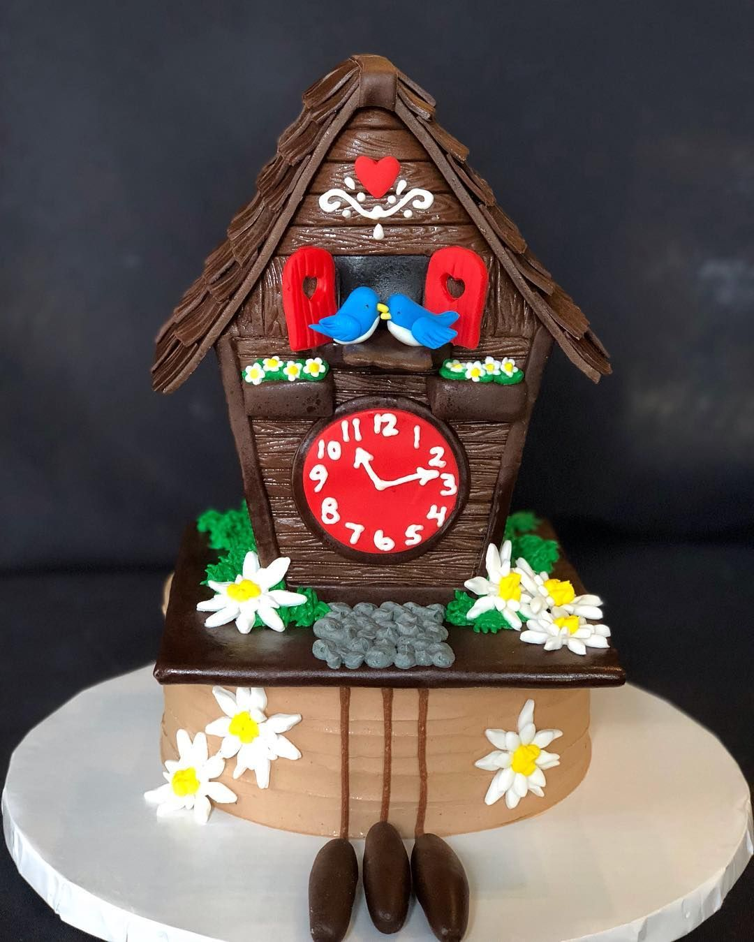 Short North Piece Of Cake On Instagram Check Out This Amazing Coo Coo Clock Cake Custom Made By Megan For Novelty Birthday Cakes Tardis Cake Piece Of Cakes