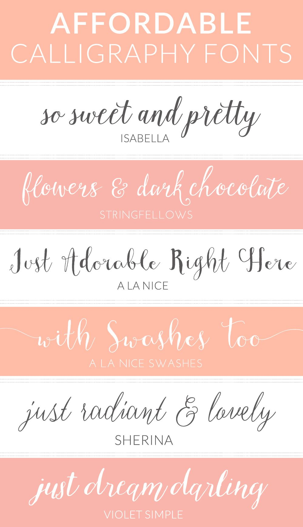 My Favorite Modern, Cheap Calligraphy Fonts | Calligraphy fonts ...