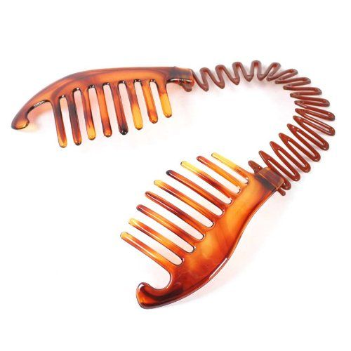 India Male A Hole N Fix The Plastic Spiral To Make Hair Accessory