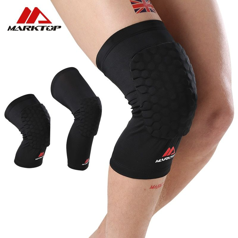 1 Pair Knee Pads Leg Knee Brace Honeycomb Protection for Basketball Volleyboll