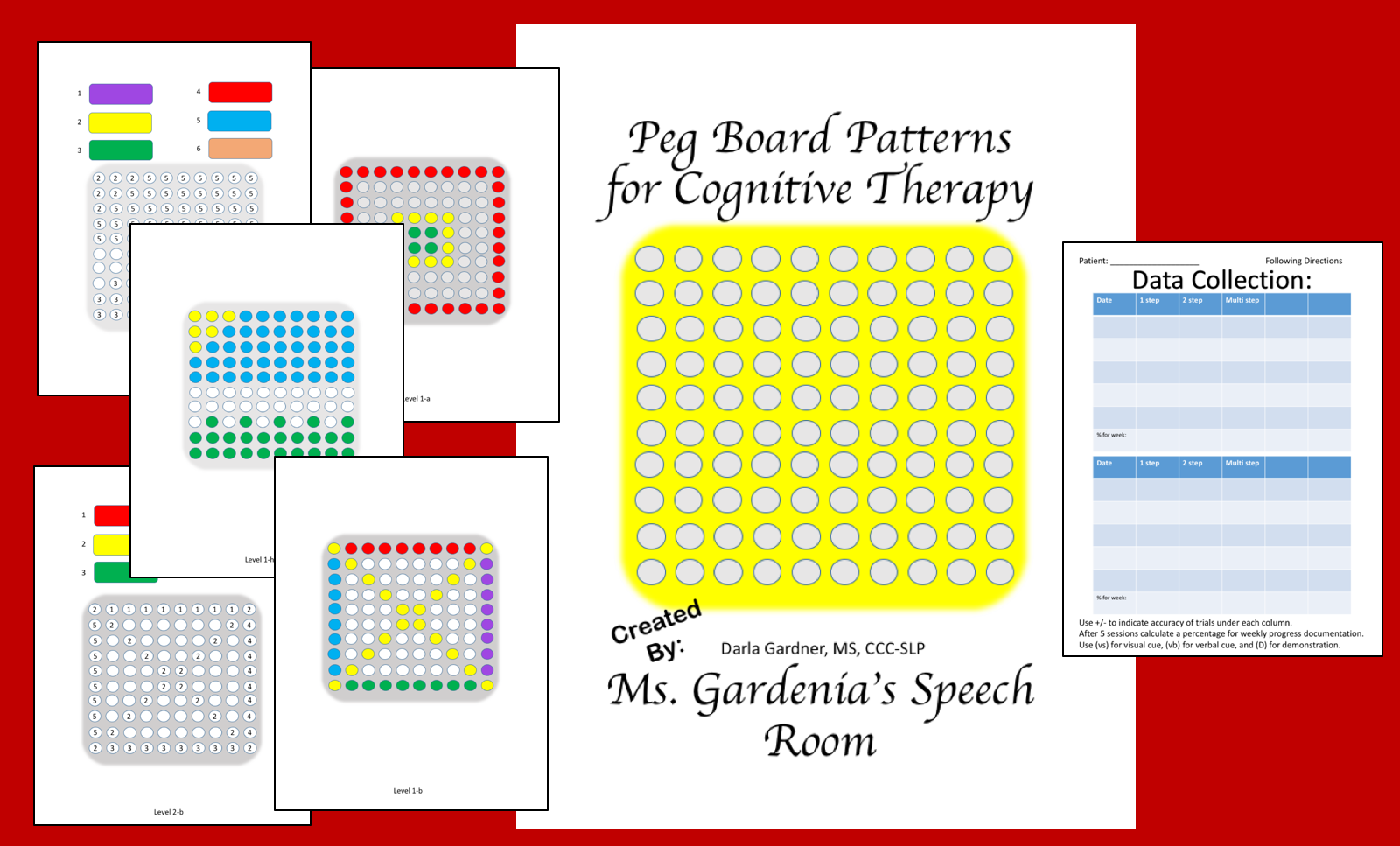 Printable Patterns To Use With Peg Boards For Problem Solving In Speech Therapy
