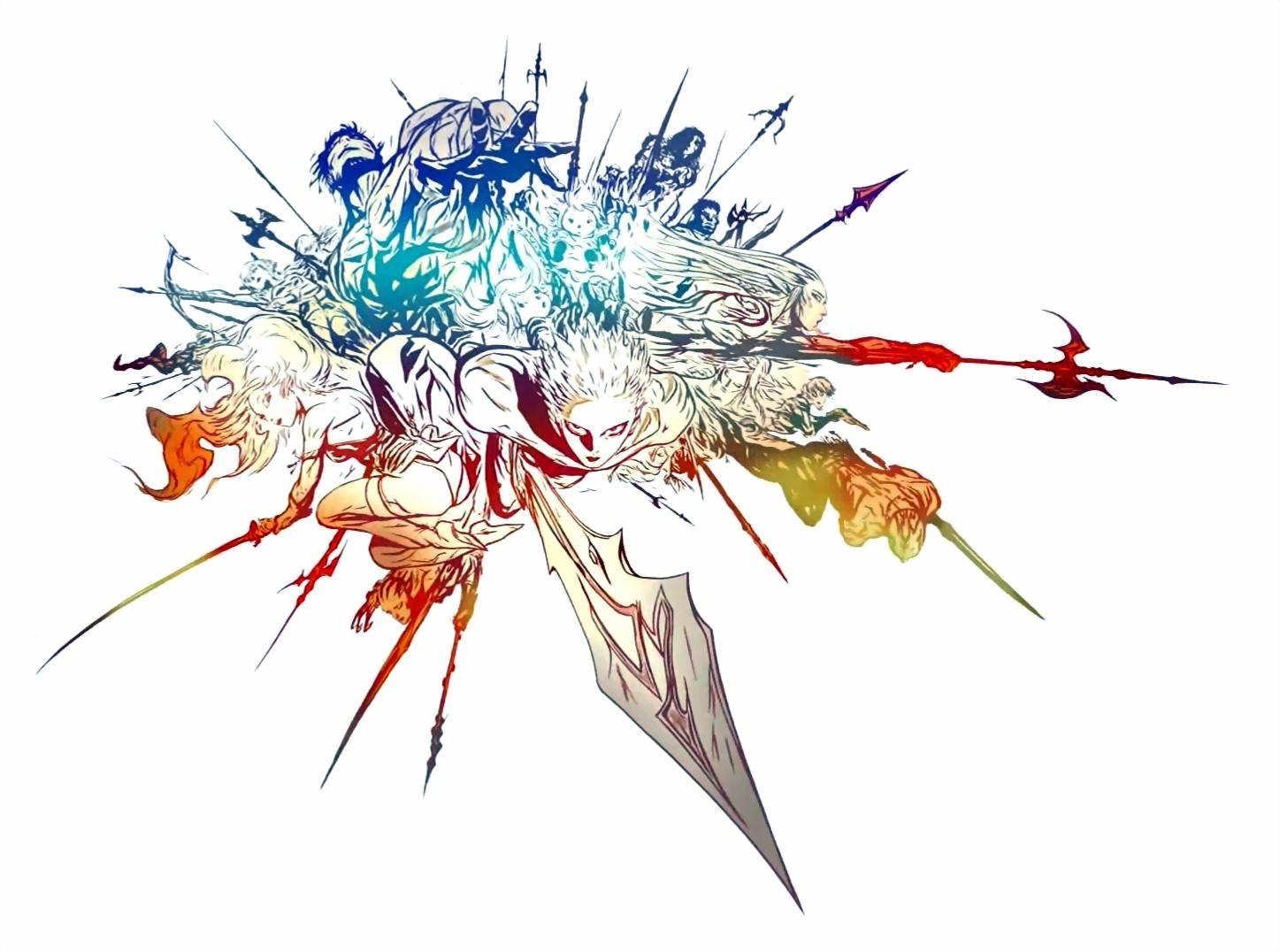 Final Fantasy XIV Logo Art Yoshitaka Amano Final