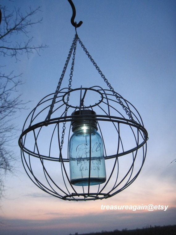 Mason Jar Solar Garden Art Light With The ORIGINAL Mason Jar Solar LID™ By  Treasureagain