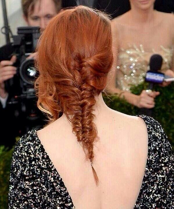 Kristen Stewart Met Gala - fish braid