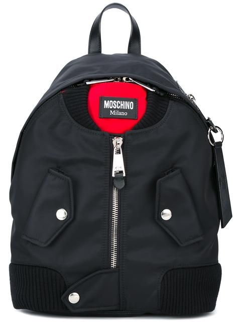 8ecc87d8284e MOSCHINO bomber jacket effect backpack.  moschino  bags  backpacks  cotton