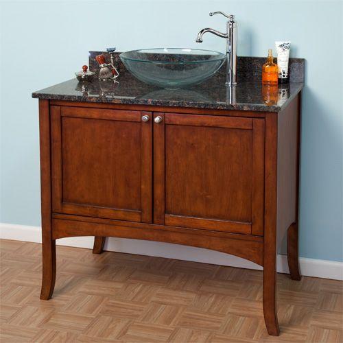 """48 Cadmon Vessel Sink Vanity: 36"""" Cadmon Vanity Cabinet For Vessel Sink"""