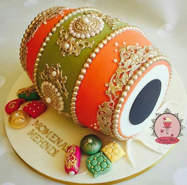 This Colorfully Indian Dholki Inspired Cake By